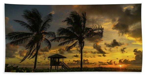 Two Palm Sunrise Delray Beach Florida Beach Towel