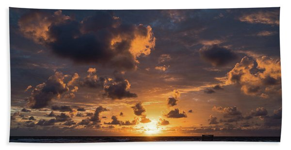 Watercolor Sunrise Delray Beach Florida Beach Towel