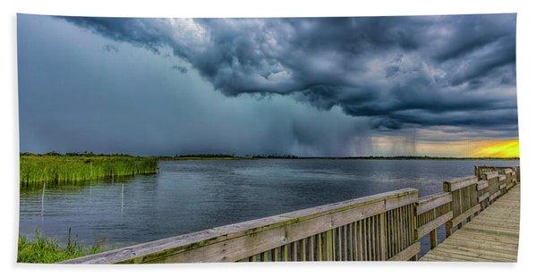Storm Watch Beach Towel