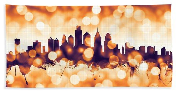Philadelphia Pennsylvania Skyline Beach Towel