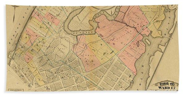 1879 Inwood Map  Beach Towel
