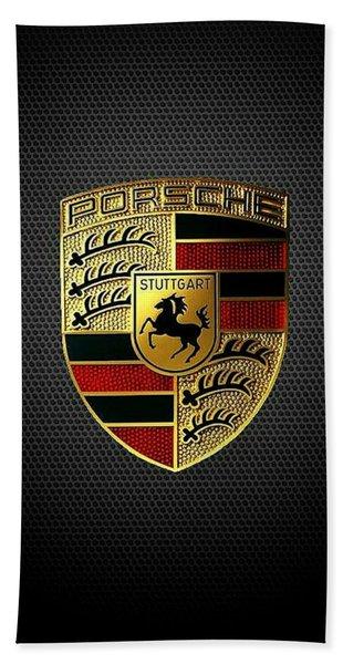 Porsche Logo Beach Towel