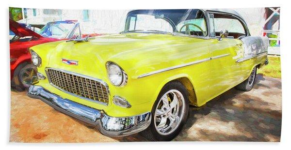 1955 Chevrolet Bel Air 002 Beach Towel