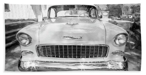 1955 Chevrolet Bel Air 007 Beach Towel