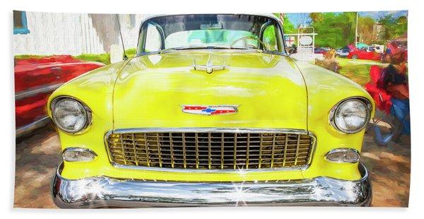 1955 Chevrolet Bel Air 009 Beach Towel