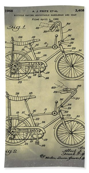 1968 Schwinn Stingray Patent In Weathered Beach Towel