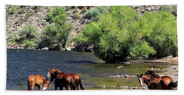Arizona Wild Horses Beach Towel