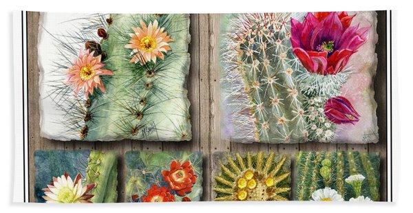Cactus Collage Beach Towel