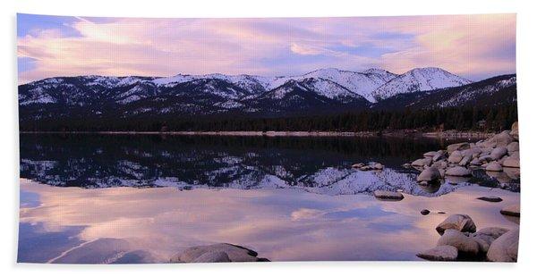 Beach Towel featuring the photograph Lake Tahoe Rocks  by Sean Sarsfield