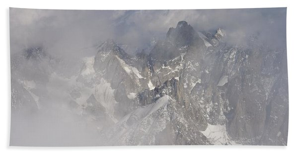 Mist At Aiguille Du Midi Beach Sheet
