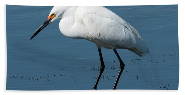 Snowy White Egret Beach Towel