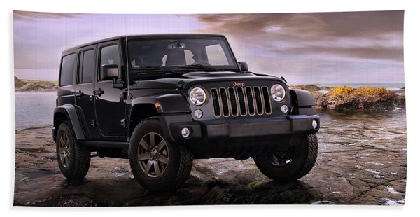2016 Jeep Wrangler 75th Anniversary Model Beach Towel