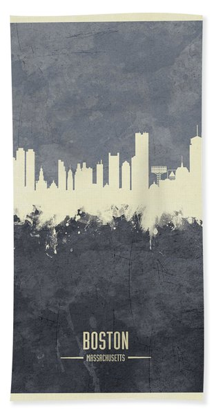 Boston Massachusetts Skyline Beach Towel