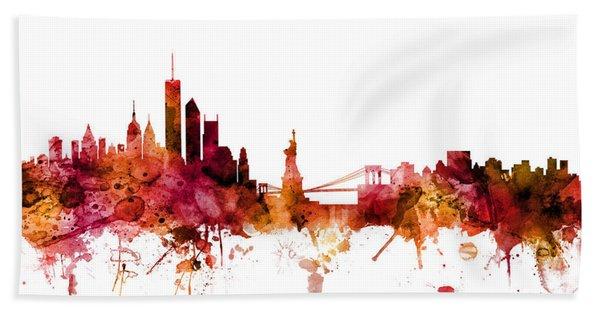 New York Skyline Beach Sheet
