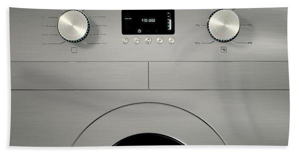 Modern Washing Machine Closeups Beach Towel