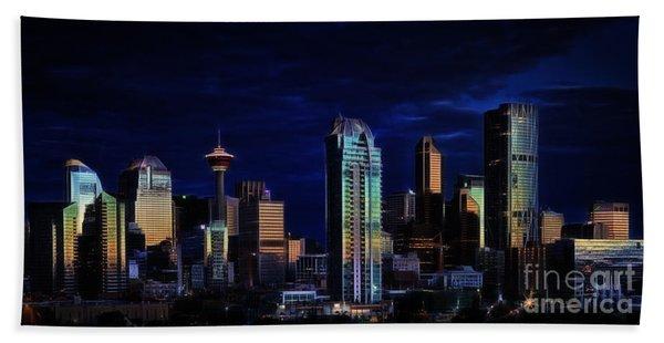 A Calgary Sunrise Beach Towel