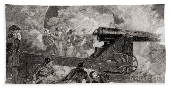 A Casemate During The Bombardment At The Battle Of Fort Sumter, 1861 Beach Towel