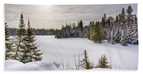 A Cold Algonquin Winters Days  Beach Sheet