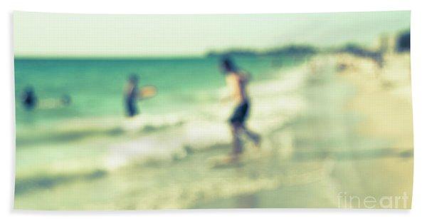 a day at the beach III Beach Towel