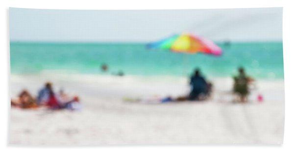 a day at the beach IV Beach Towel