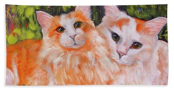 A Duet Of Kittens Beach Towel