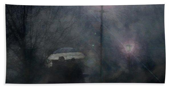 A Foggy Night Romance Beach Towel