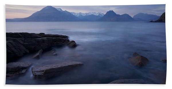 A Gentle Sunset At Elgol  Beach Towel