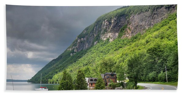 A Passing Cloud At Lake Willoughby In Westmore Vermont Beach Towel