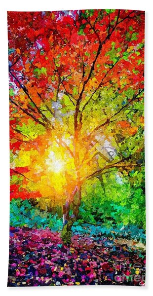 A Tree In Glory Beach Sheet