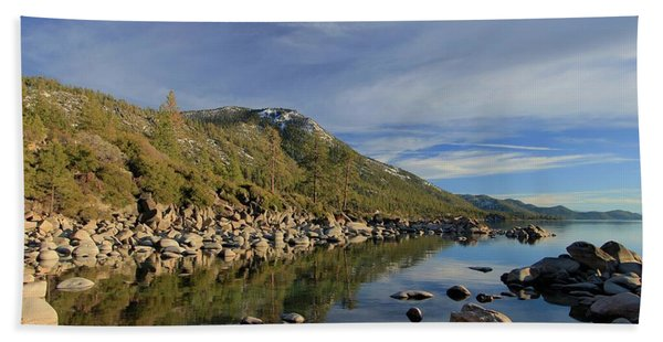 Beach Towel featuring the photograph A View To Herlan Peak by Sean Sarsfield