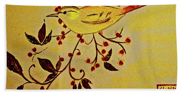 A Wren - In Pastel  Beach Towel