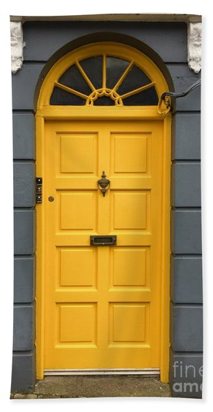 A Yellow Door In Ireland Beach Towel
