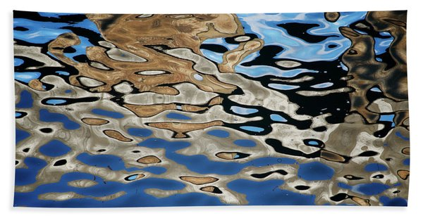Abstract Dock Reflections I Color Beach Towel
