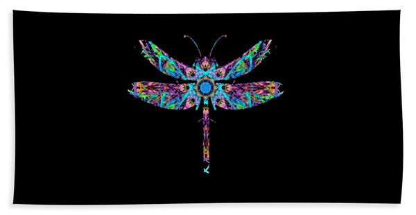 Abstract Dragonfly Beach Towel