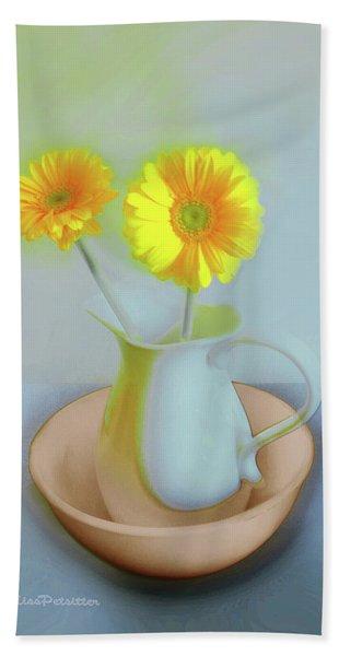Abstract Floral Art 302 Beach Sheet