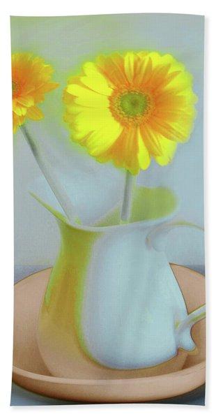 Abstract Floral Art 303 Beach Sheet