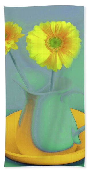 Abstract Floral Art 307 Beach Towel