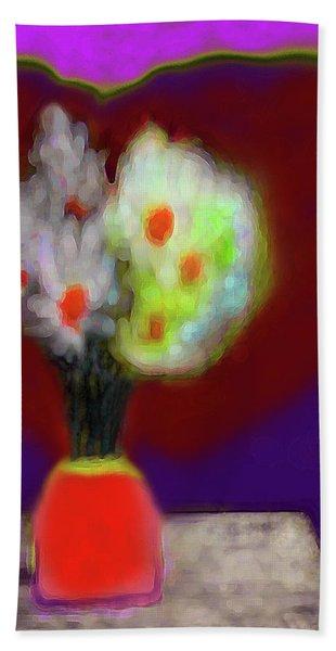 Abstract Floral Art 340 Beach Sheet