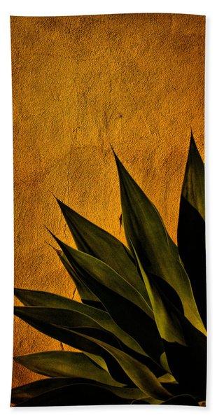 Adobe And Agave At Sundown Beach Towel