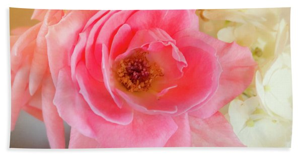 Afternoon Rose By Mike-hope Beach Towel