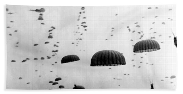 Airborne Mission During Ww2  Beach Towel