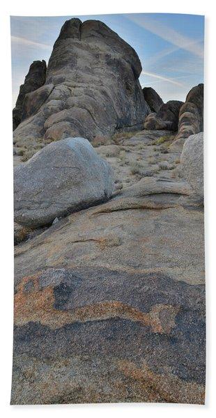 Alabama Hills Boulders At Dusk Beach Towel
