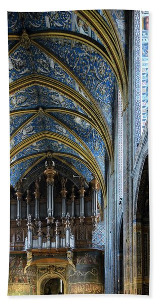 Albi Cathedral Nave Beach Towel