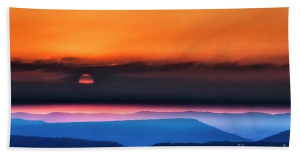 Allegheny Mountain Sunrise 2 Beach Towel
