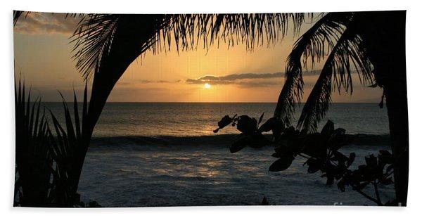 Aloha Aina The Beloved Land - Sunset Kamaole Beach Kihei Maui Hawaii Beach Towel