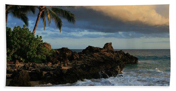 Aloha Naau Sunset Paako Beach Honuaula Makena Maui Hawaii Beach Towel