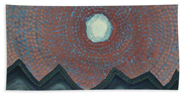 Alpine Resonance Original Painting Beach Sheet