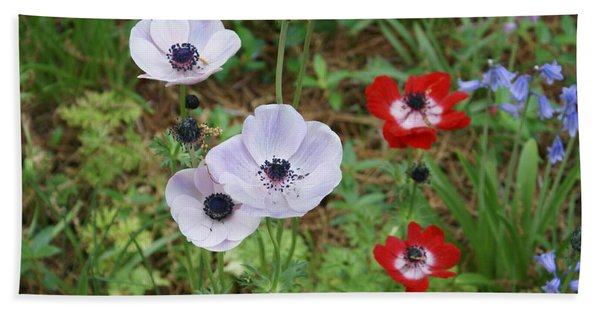 American Flowers Beach Towel
