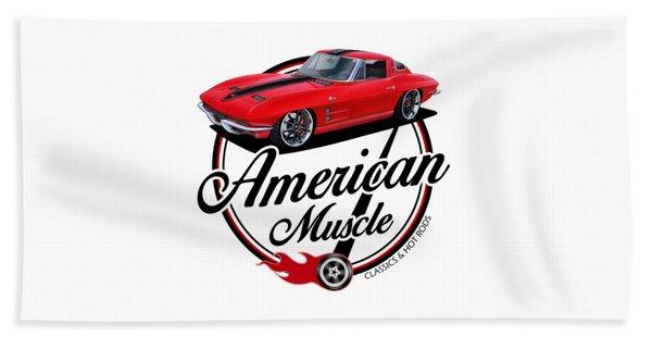 American Muscle In Red Beach Towel