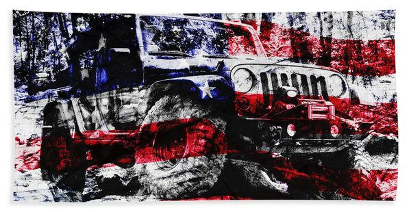 American Rock Crawler Beach Towel